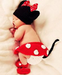Kidslounge Photo Props Handmade Knitted Costume - Red