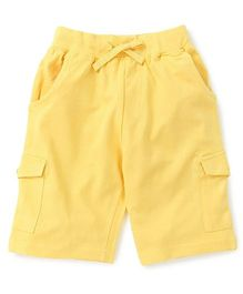 KiddoPanti Cargo Shorts - Lemon Yellow