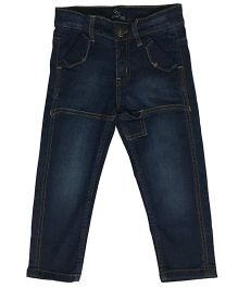 Kiddopanti Full Length Dark Wash Jeans - Dark Blue