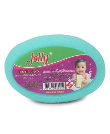 Oval Shape Baby Bath Sponge - Aqua Green