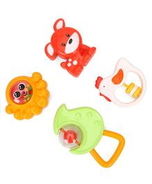 Animal Shape Baby Rattles Pack Of 4 (Color May Vary)