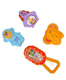 Animal Shape Baby Rattles Pack Of 4 - Multicolor