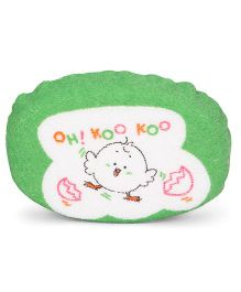 Baby Bath Sponge Bird Print - Green