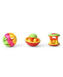 Baby Rattles Pack of 3 - Multicolour