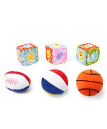 Baby Soft Ball & Cubes Pack Of 3 Star Print - Multi Color