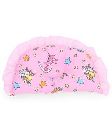 Baby Pillow Semicircle Shape Star Print - Pink