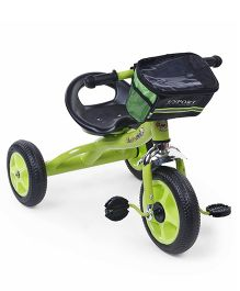 Tricycle With Stylish Front Basket - Green