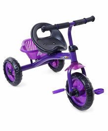 Baby Tricycle With Stylish Rear Basket - Purple