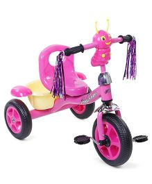 Tricycle With Music & Stylish Rear Basket - Pink