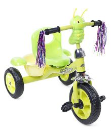 Tricycle With Music & Stylish Rear Basket - Green