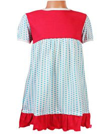 Baby Baya - Half Sleeves Frock With Polka Dotted Print