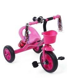 Baby Tricycle With Streamers - Pink Black
