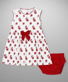 Wonderchild Cotton Dress With Bloomer - Red