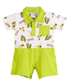 Chic Bambino Holiday Design Roy Romper - Lime Green