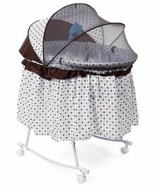 funky baby furniture. Baby Bassinet With Rocking Function And Mosquito Net - Brown Funky Furniture I