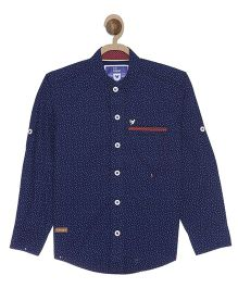 612 League Full Sleeves Shirt Allover Print - Navy Blue