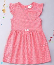 Playbeez Polka Print Dress - Pink