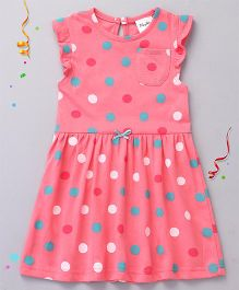 Playbeez Trendy Polka Dots Dress - Pink