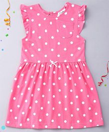 Playbeez Cute Polka Dots Dress - Fuchsia Pink