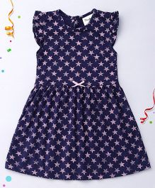 Playbeez Star Print Dress - Blue