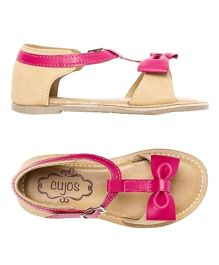 Cujos Open Toe Sandals With Bow Detail - Pink