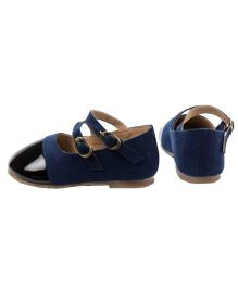 Cujos Closed Toe Belles With Buckle Closure - Navy Blue