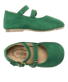 Cujos Double Strap Buckle Closure Belles - Green