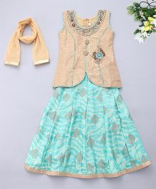 Adores Stylish Ethnic Set - Beige