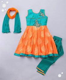 Adores Stylish Chuddidar Set - Orange