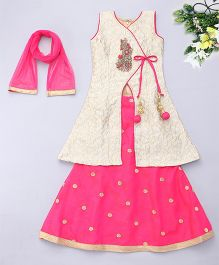 Adores Ethnic Skirt & Kurta Set - Pink
