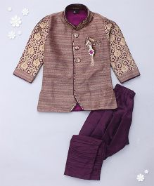 Adores Embriodery Traditional Wear Kurta & Chudidar - Brown