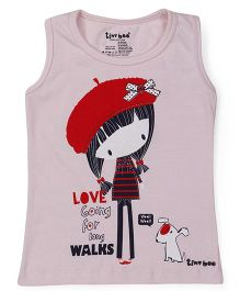 Tiny Bee Sleeveless Top Doll Print - Pink