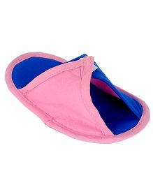 Snugons Velcro Attachment Slipons - Light Pink & Blue