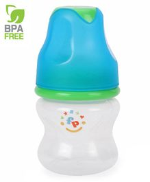 Fisher Price Regular Neck Designer Feeding Bottle White Blue - 60 ml