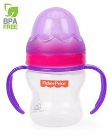 Fisher Price Wide Neck Bottle With Handle Purple - 150 ml