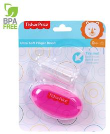 Fisher Price Finger Brush With Case - Pink