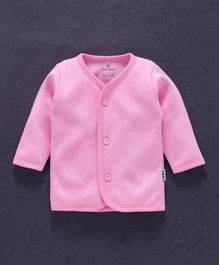 Child World Full Sleeves Fleece Vest - Pink