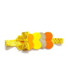 Reyas Accessories Heart Design Glitter Headband - Yellow & Golden