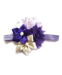 Reyas Accessories Vintage Style Glittery Headband - Purple