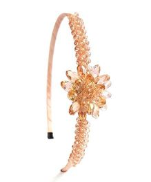 Reyas Accessories Crystal Hairband - Peach