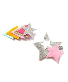 Reyas Accessories Set Of Glittery Star Hair Clip - Multicolor