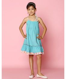 Tiddlywings Frilled Single Strap Dress - Light Blue