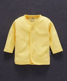 Child World Full Sleeves Fleece Vest - Yellow