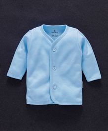 Child World Full Sleeves Fleece Vest - Blue