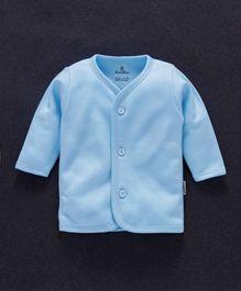 Child World Full Sleeves Fleece Vest - Blue