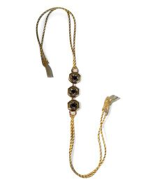 Sugarcart Rakhi With Diamond Hexagon Studs - Golden