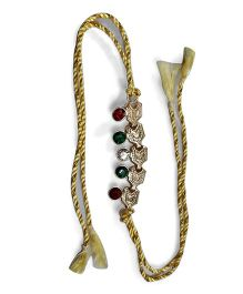 Sugarcart Studded Rakhi With Studs - Green & Red
