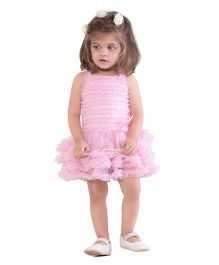 The Kidshop Cute Ruffles Party Dress - Pink