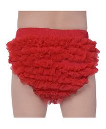 The Kidshop Cute Ruffles Bloomer - Red