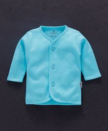 Child World Full Sleeves Fleece Vest - Aqua